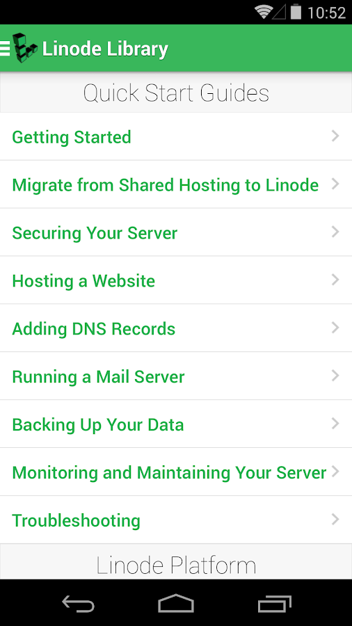Linode Manager - screenshot