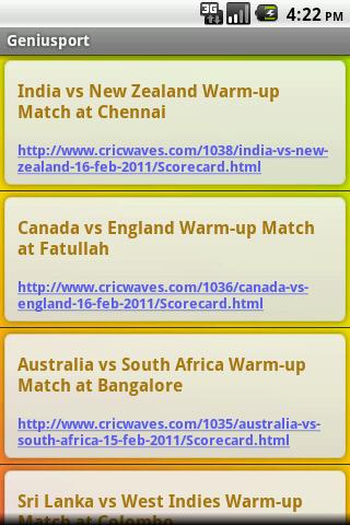 Icc World Cup 2011 - screenshot