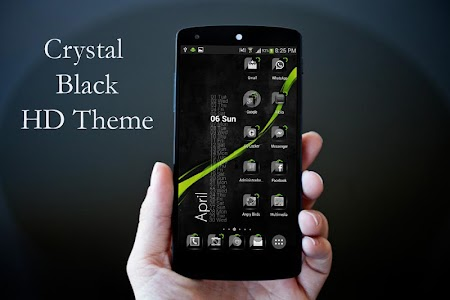Theme Crystal Black Flat HD v6.6