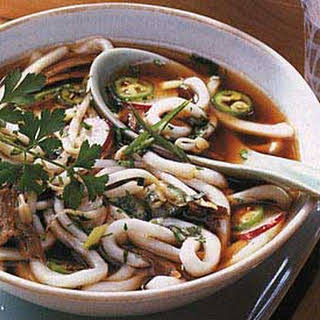 Spicy Vietnamese Beef and Noodle Soup.