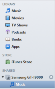iTunes Share for Android - screenshot thumbnail