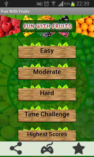 Fun With Fruits Matching Game