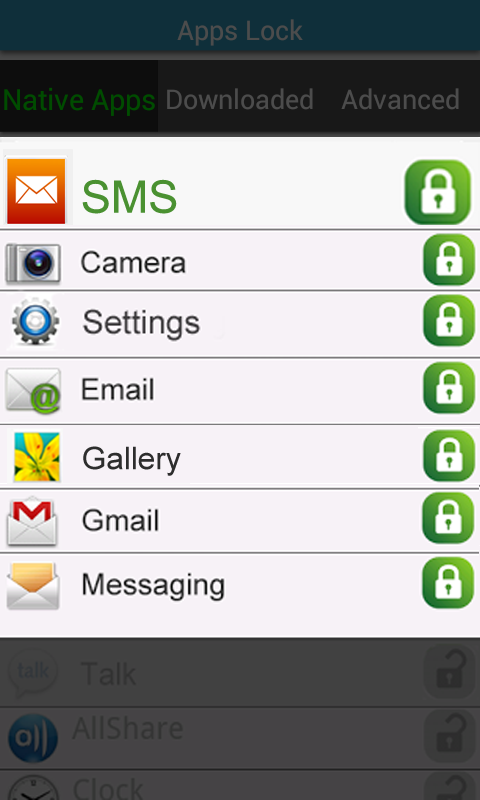 SMS & Apps Lock - screenshot