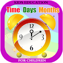 Learn Clock,Day & Month - Kids icon
