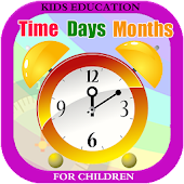 Learn Clock, Day & Month- Kids