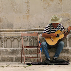 Trogir Street Musician by Jennifer Wheatley-Wolf - People Street & Candids ( jennifer wheatley-wolf, street musician, croatia, trogir, guitarist, , Travel, People, Lifestyle, Culture )