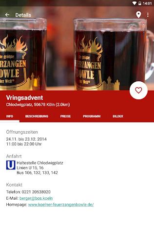 Screenshot 2 Kölner Weihnachtsmärkte