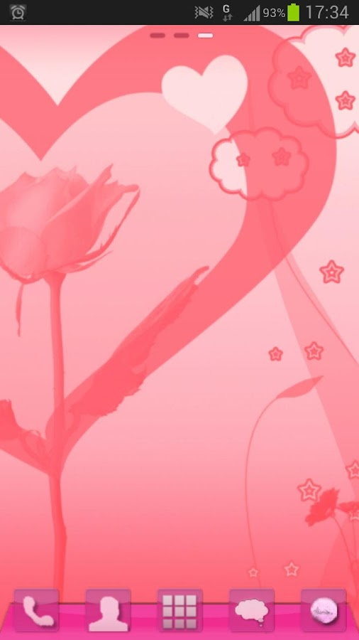 GO Launcher EX Theme Valentine- screenshot