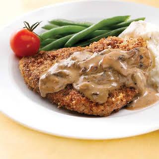 Country-Fried Steak with Mushroom Gravy.