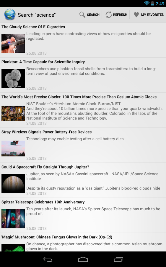 Science News- screenshot