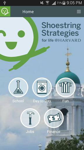 Harvard Shoestring Strategies