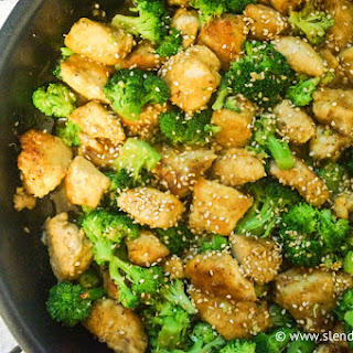 Sesame Chicken with Broccoli