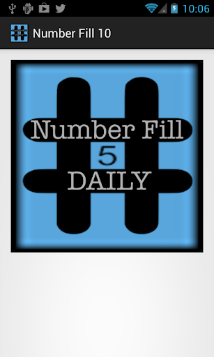 Number Fill 10 Daily Crossword
