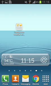 Transparent Weather And Clock screenshot 3