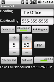 Fake-A-Call Screenshot
