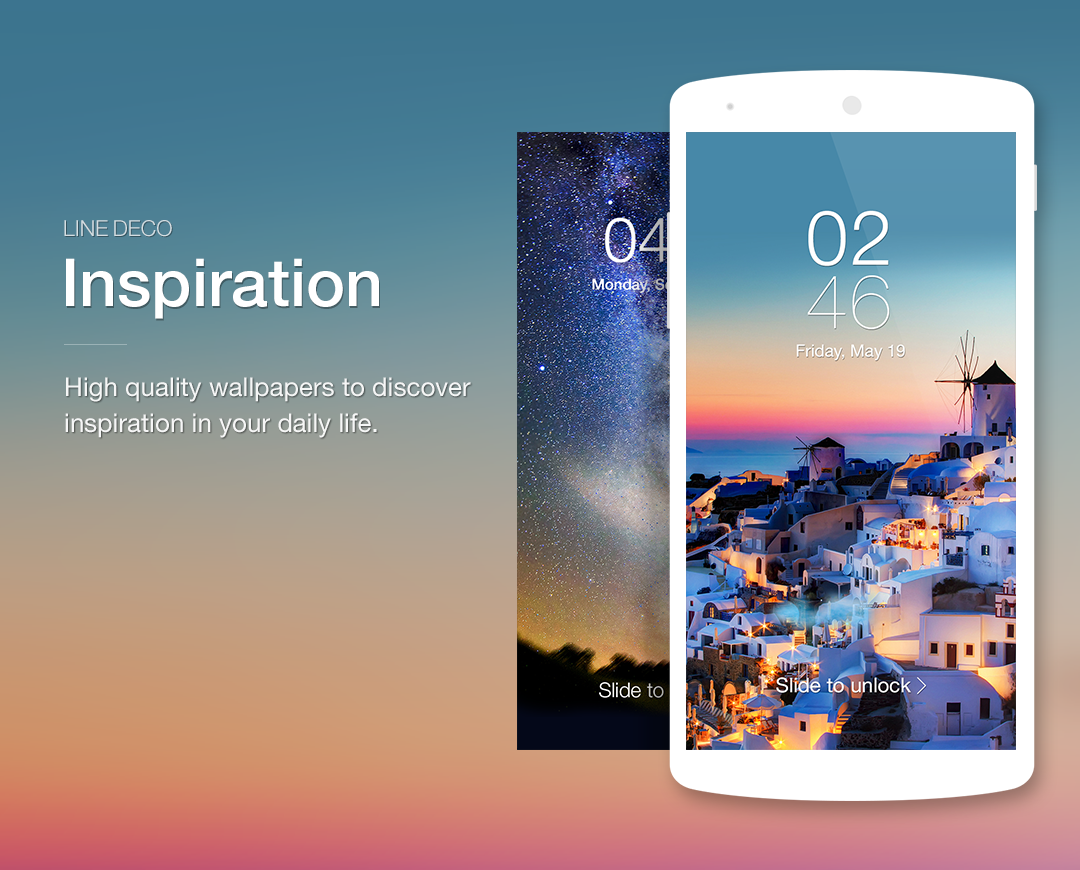 Wallpapers, Icons - LINE DECO- screenshot