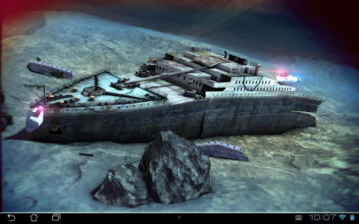 Titanic 3D Pro live wallpaper app for Android screenshot