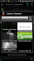 Screenshot of Cameras Tennessee traffic cams