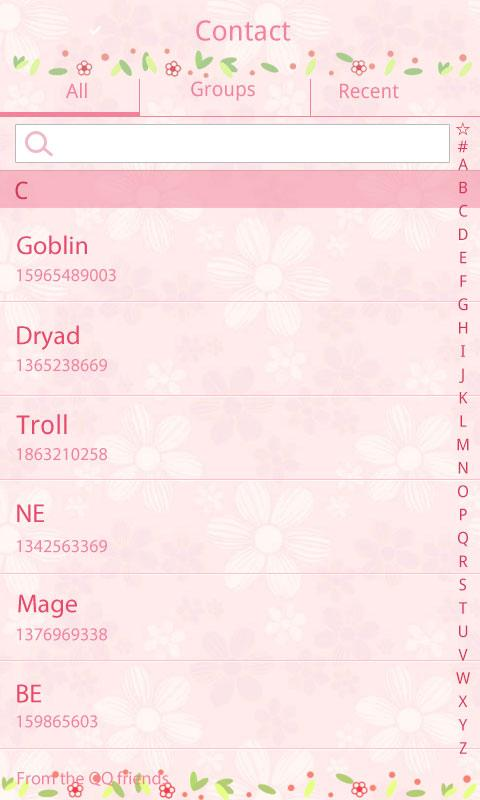 GO SMS Pro Love Petal Theme EX- screenshot