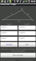 Screenshot of Triangle Solver Tool