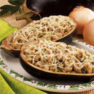 Eggplant with Mushroom Stuffing.
