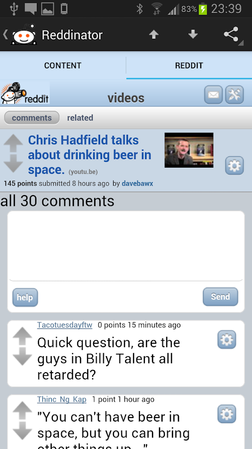 Reddinator: Reddit App/Widget - screenshot