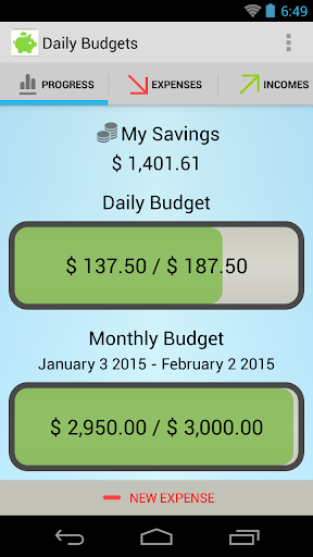 Daily Budgets