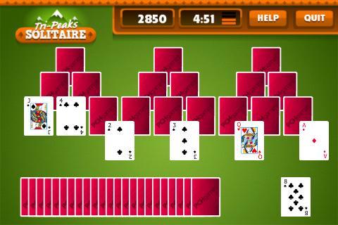 TriPeaks Solitaire Free - screenshot