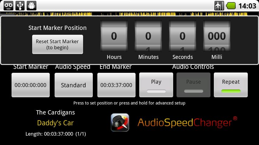 Audio Speed Changer - screenshot
