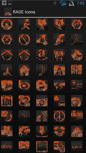 Rage Icons Fire Theme