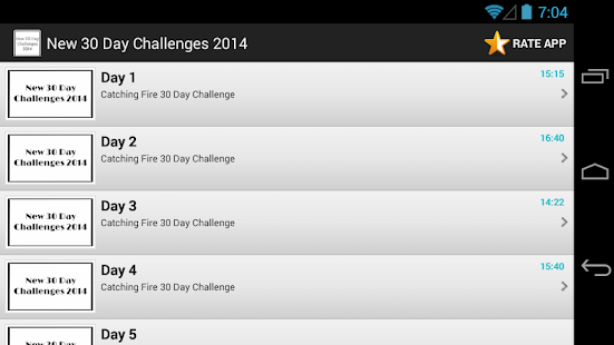 New 30 Day Challenges 2014 - screenshot thumbnail