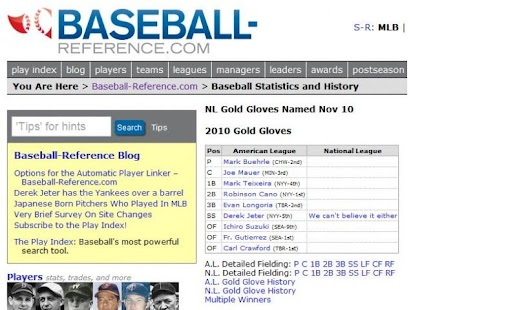 Baseball Reference Mobile App - screenshot thumbnail