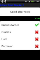 Screenshot of Pocket Polyglot Spanish