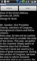 Screenshot of The President speech