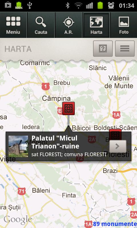 Monumente Romania - screenshot