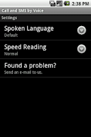 Screenshot of Call & SMS by Voice LITE