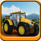 Tractor parking 3D farm driver icon