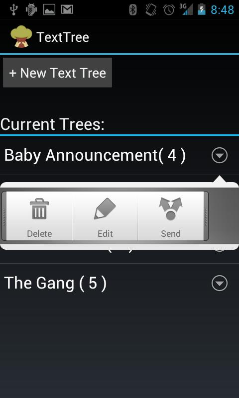 Text Tree - screenshot