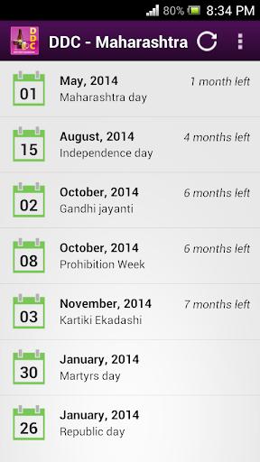 Dry Day Calendar