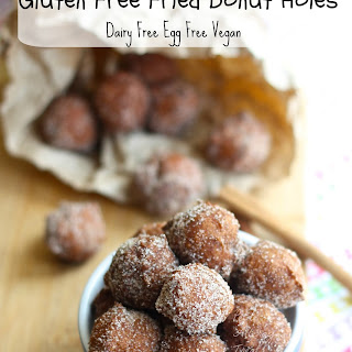 Gluten Free Fried Donut Holes (Vegan Dairy Free Soy Free).