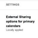 Calendar sharing settings