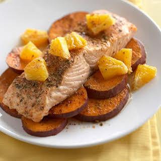 Southwest Salmon and Sweet Potatoes.