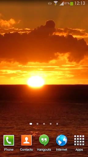 Ocean Waves Sunset Live HD 2