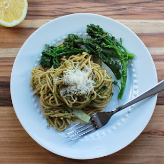 Whole Wheat Pesto Pasta with Broccoli Rabe.