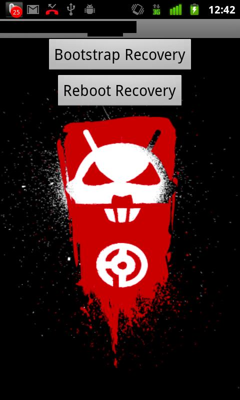 Droid X Recovery Bootstrap - screenshot