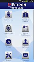 Screenshot of Petron Value Card