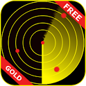 Gold Radar Scanner Prank icon