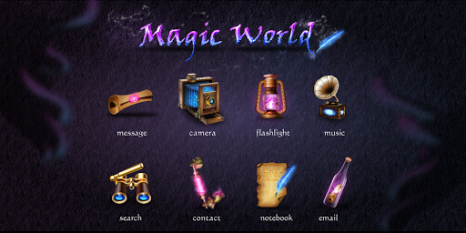 Magic World GO Launcher Theme v1.0 (Unlocked)