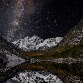 Maroon Bells Milky Way by James McGinley - Landscapes Starscapes (  )