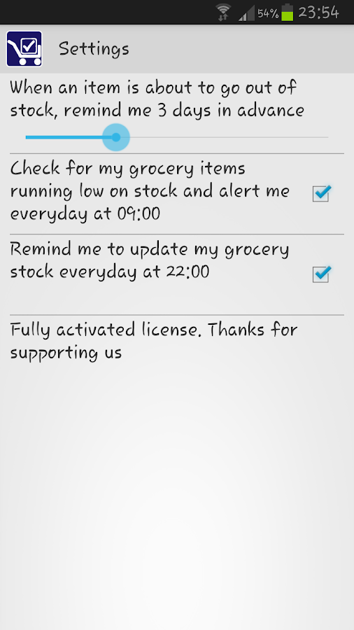 Track My Grocery - screenshot